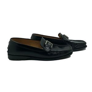 TOD'S Patent-leather Buckled Loafers Black 36